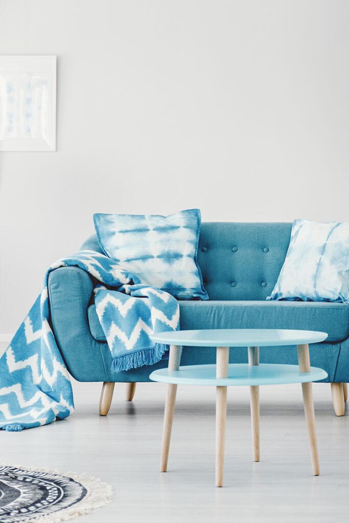 Zinzan FF&E Blue Sofa