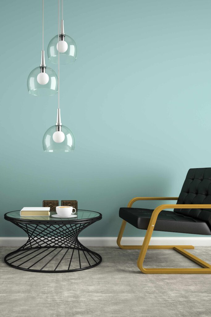 Zinzan FF&E Designer Room With Pendent Lighting
